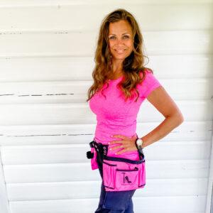 Pink værktøjsbælte til kvinder